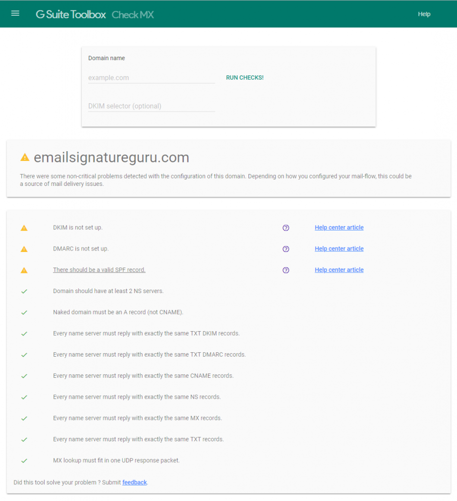 Securing your Google G Suite email environment with SPF